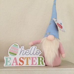 🐇 Easter   Spring Blue & Pink Shelf Gnome